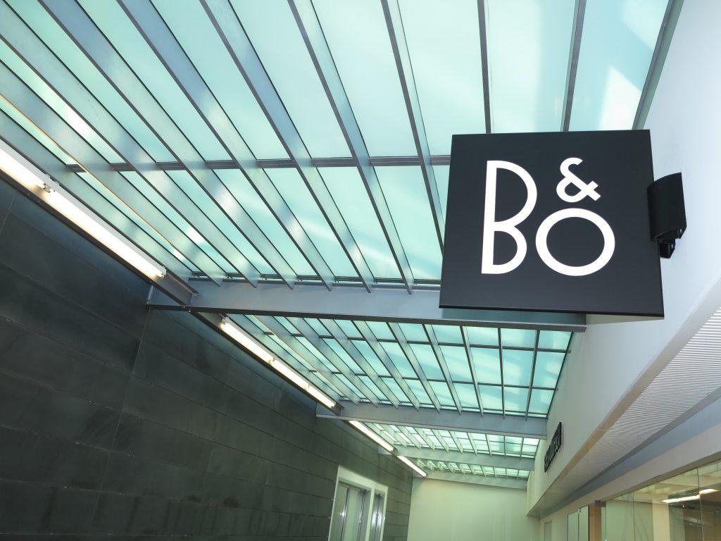 B&O, Bang & Olufsen, butik logo