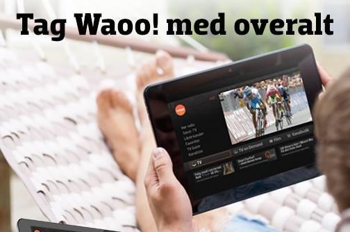 Waoo TV med på farten
