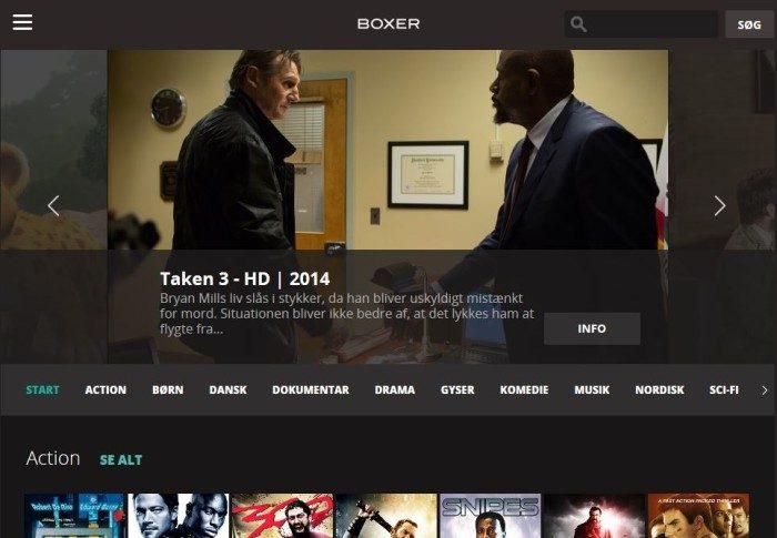 Boxer TV på nettet