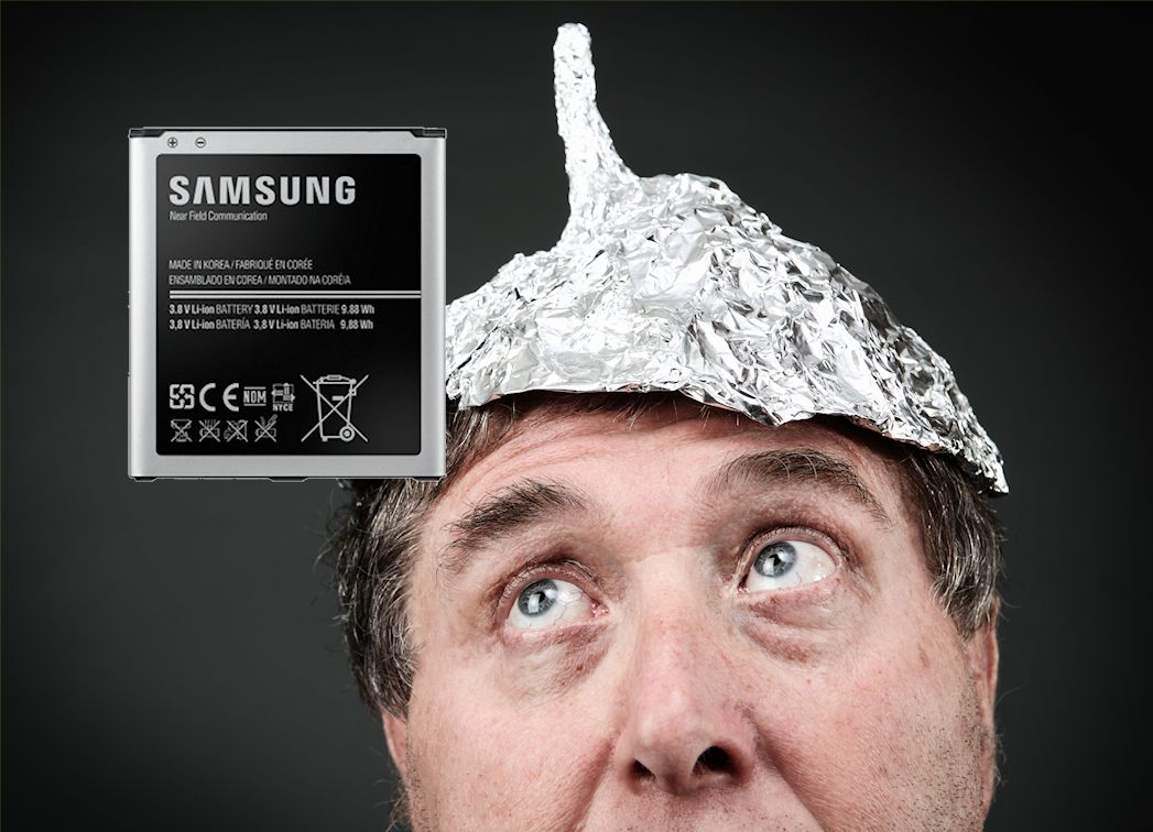 Samsung batteri sølvpapirshat