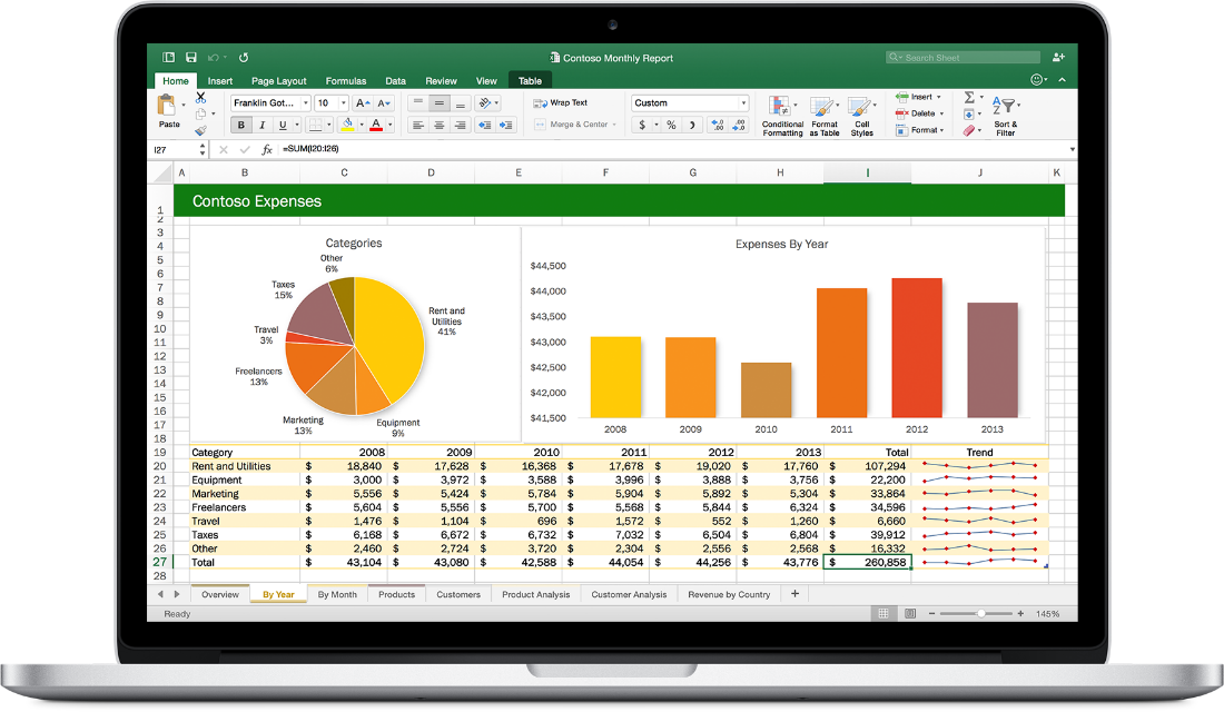 Office 2016 for Mac. Excel