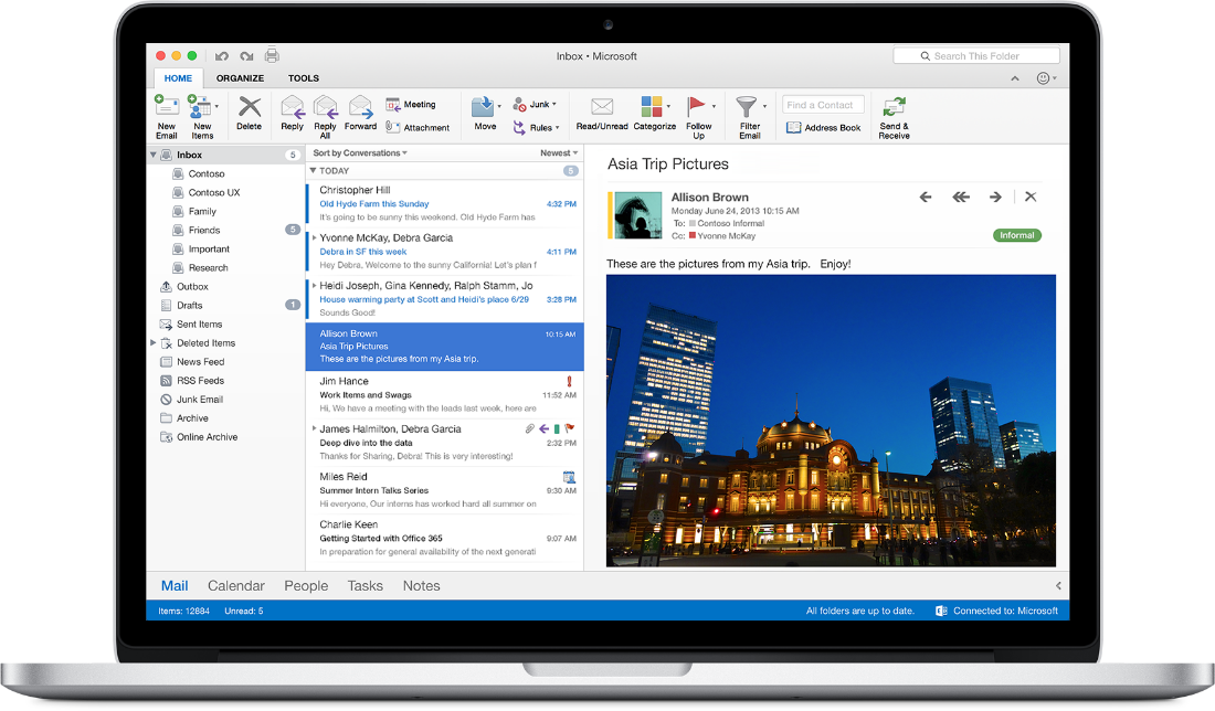Office 2016 for Mac. Outlook