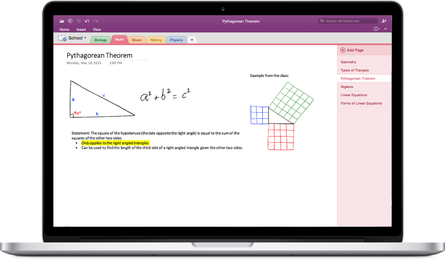 Office 2016 for Mac. OneNote