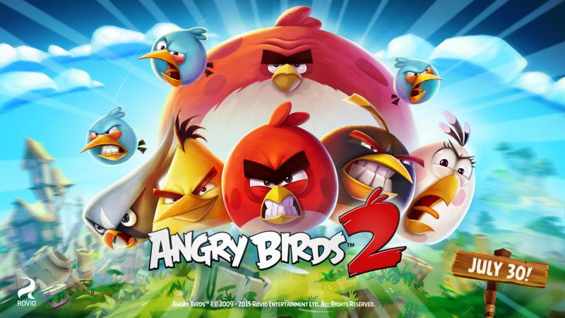 Angry Birds 2 kan downloades den 30. juli