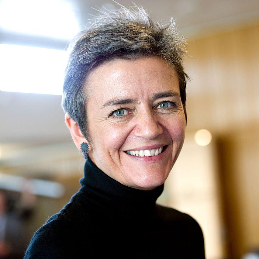 Margrethe Vestager er gået i krig mod Sky og filmselskaberne (pressefoto: EU)