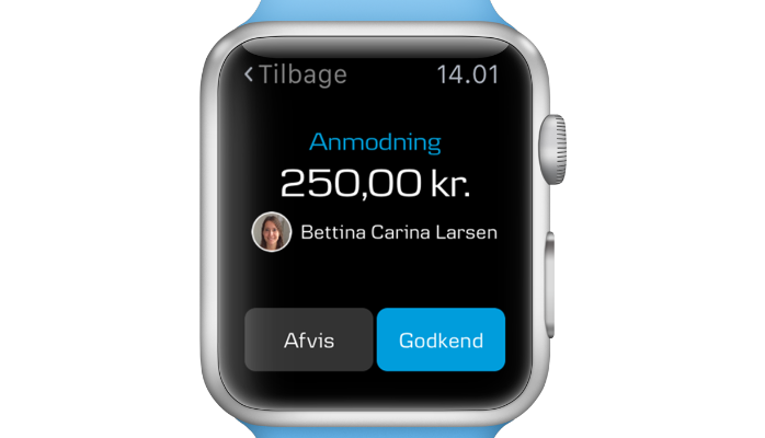 Har du et Apple Watch kan du nu godkende betalinger med Apple Watch.