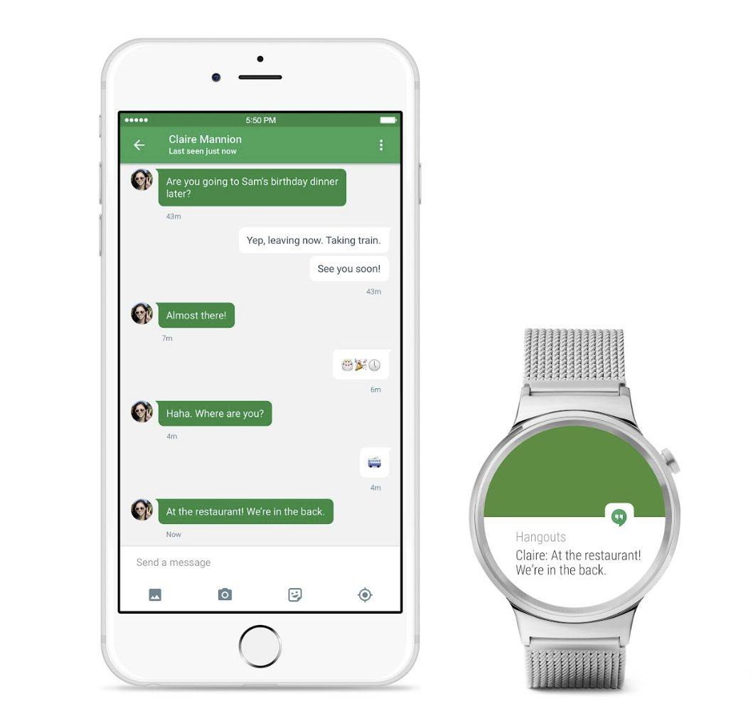 Google Wear Android iPhone