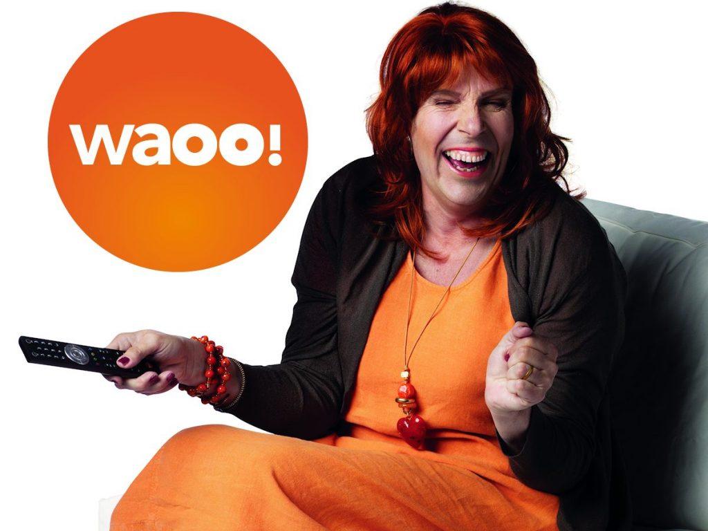 Waoo glad spåkone + logo