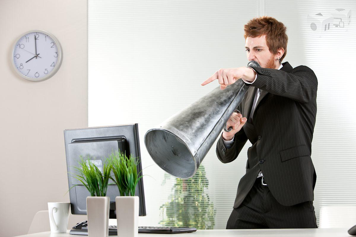 Computer bøvl megafon
