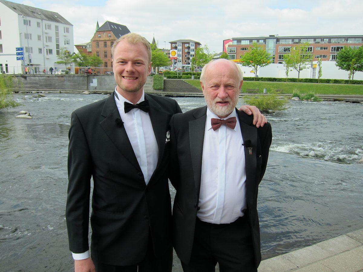 Christian Degn og Frode Munksgaard. Foto Kurt Rasmussen / DR