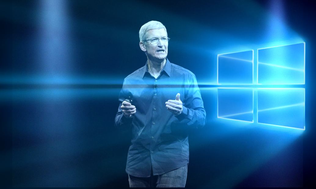 Windows 10 Tim Cook Stock