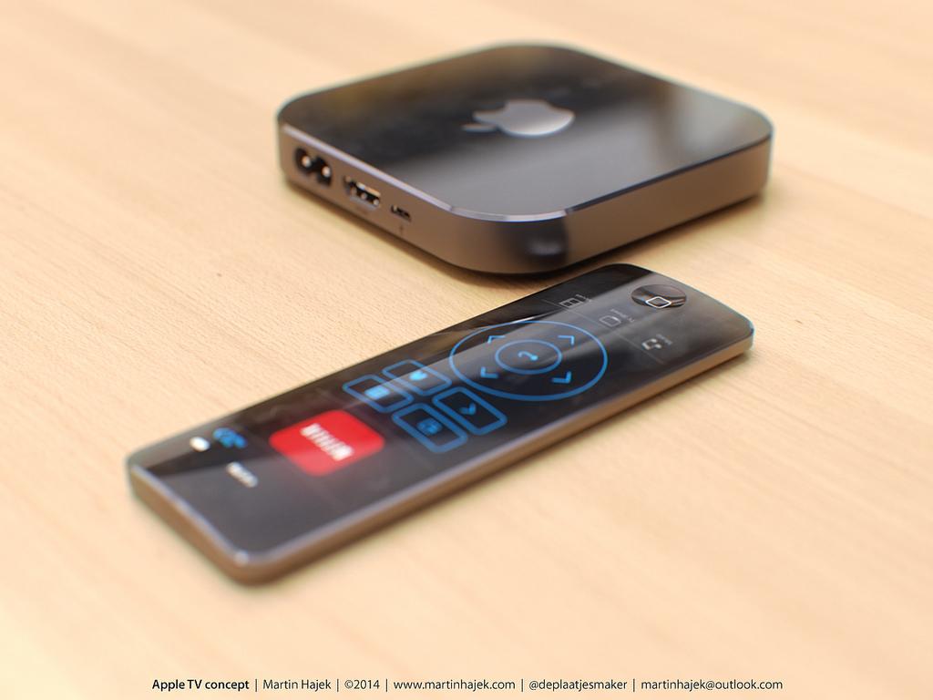 Sådan forestiller designeren Martin Hajek sig den ny Apple TV