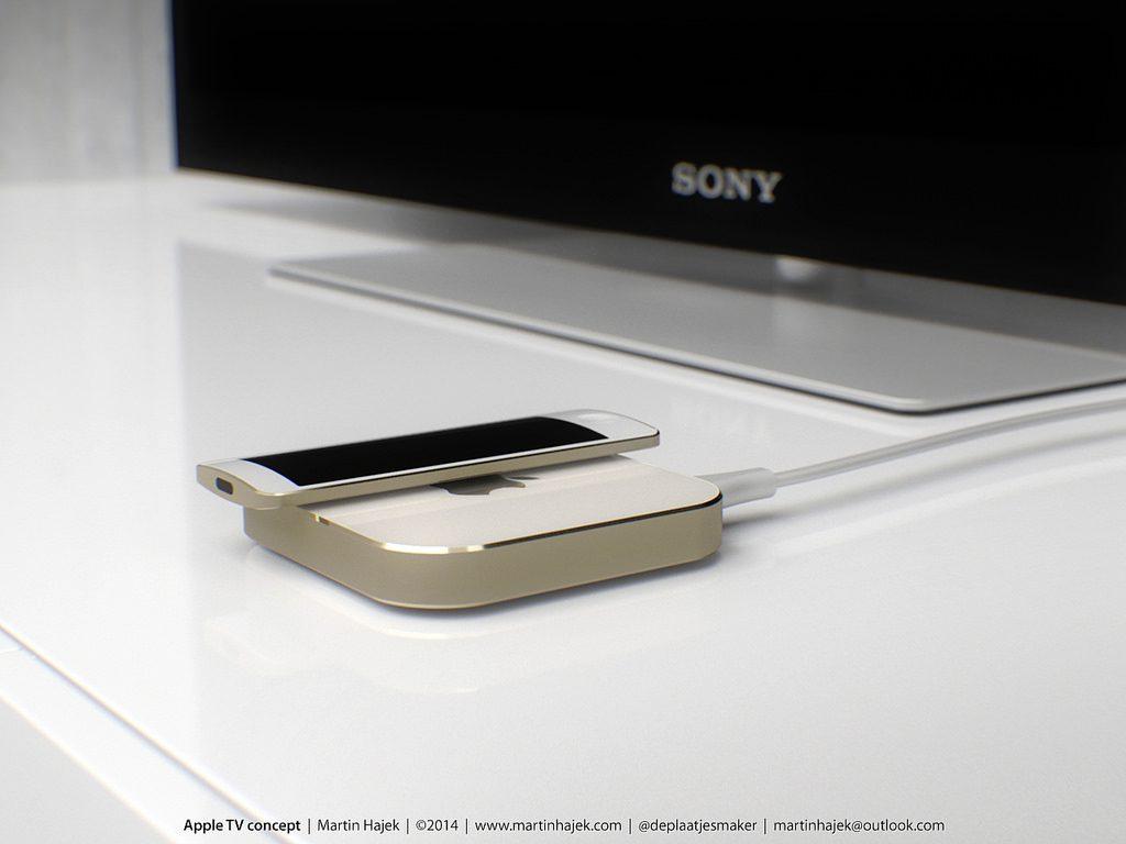 Sådan forestiller designeren Martin Hayek sig det ny Apple TV.