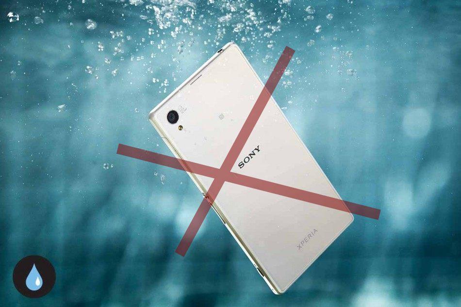 Brug ikke Sony Xperia i vand (Originalt PR foto fra Sony)