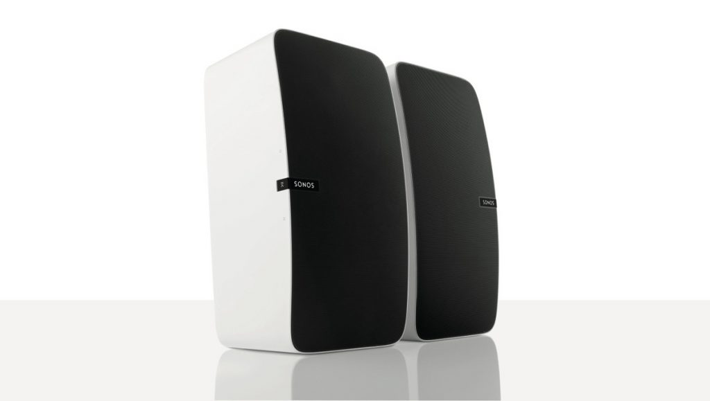 SONOS PLAY:5 i stereo opsætning.
