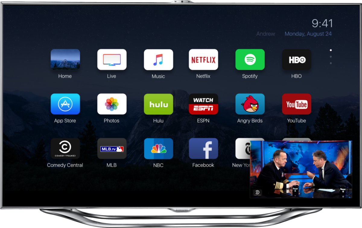 Apple TV 4 koncept af Andrew Ambrosino (ajambrosino.com)