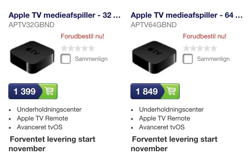 Apple TV4 til salg hos Elgiganten