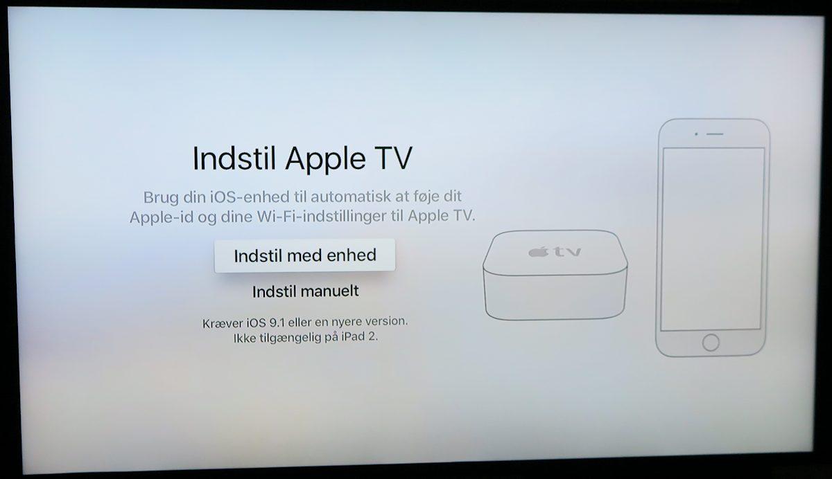 Indstil Apple TV. Foto: recordere.dk
