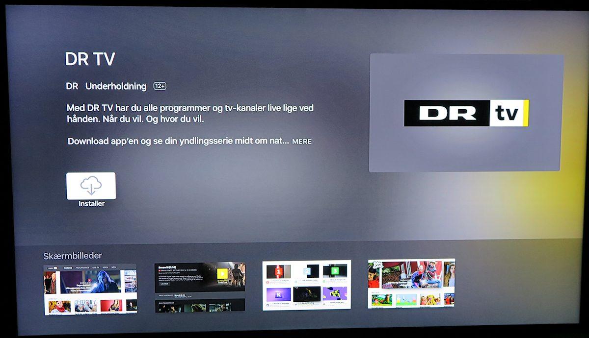 Installér DR TV app. Foto: recordere.dk