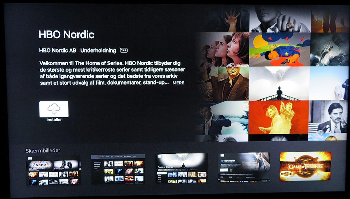 Installér HBO Nordic app. Foto: recordere.dk