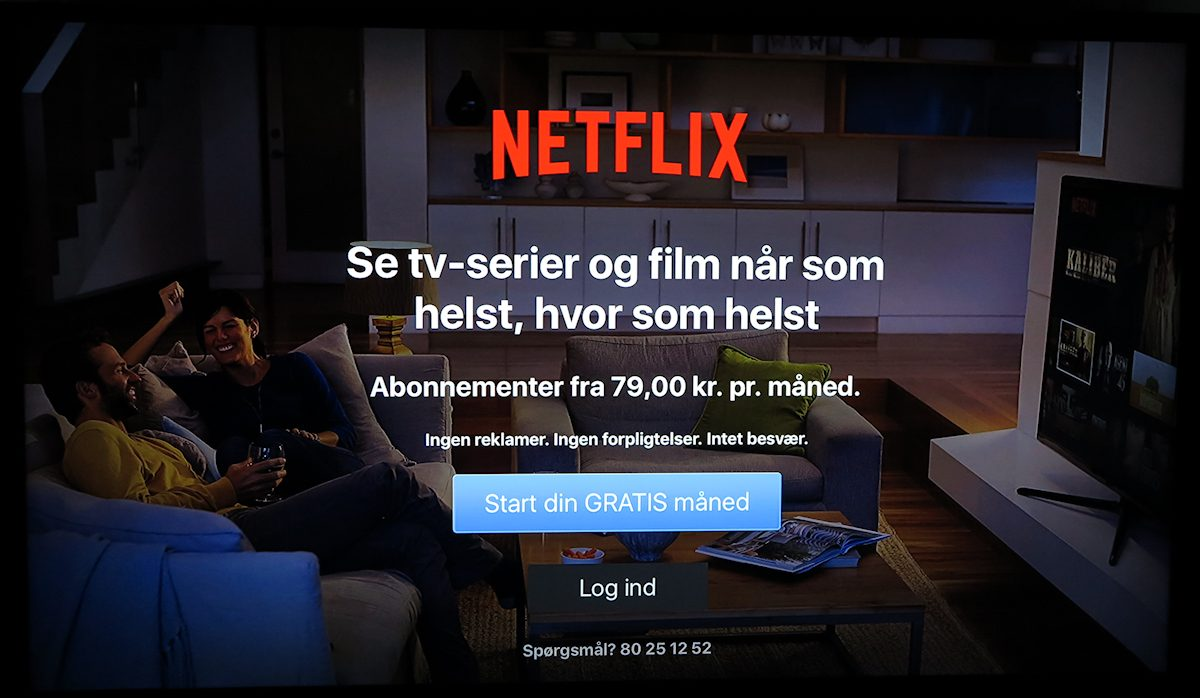 Netflix på Apple TV. Foto: recordere.dk
