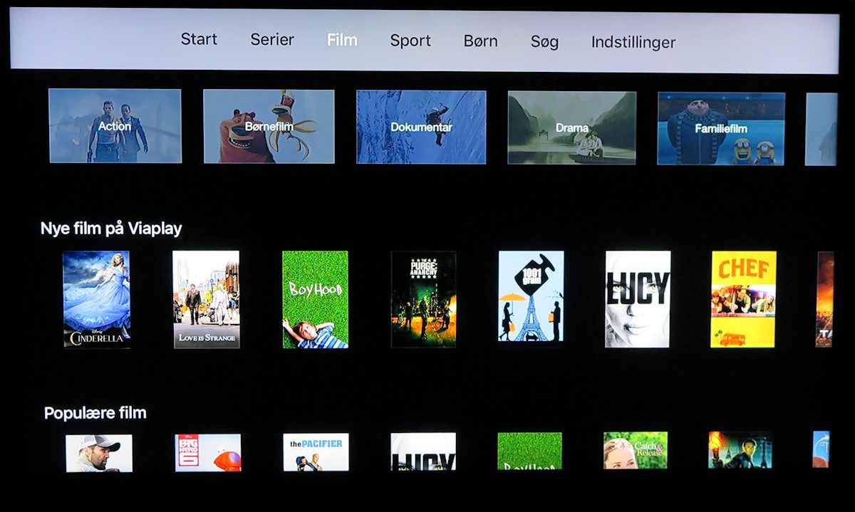 Viaplay på Apple TV. Foto: recordere.dk