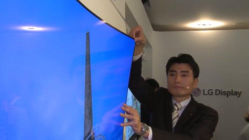 LG OLED Wallpaper TV. Screenshot fra LG video.