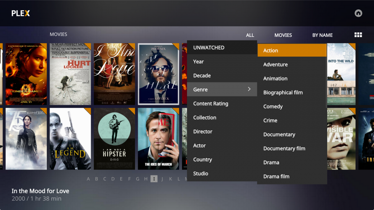 Plex Media Player - Filtre