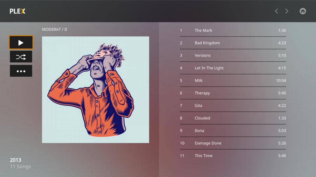 Plex Media Player - Musik