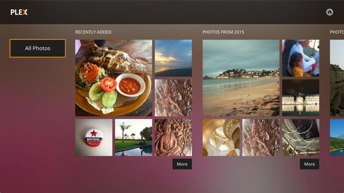 Plex Media Player - Billeder