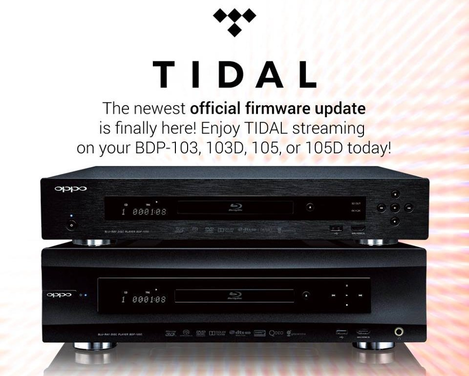 Oppo Blu-ray Tidal