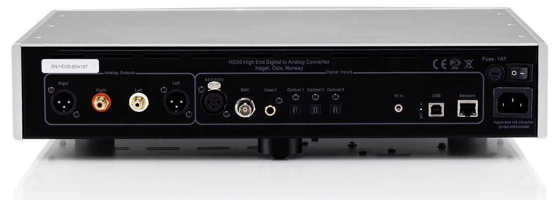 Hegel HD30, highend streamer med DAC/preamp.