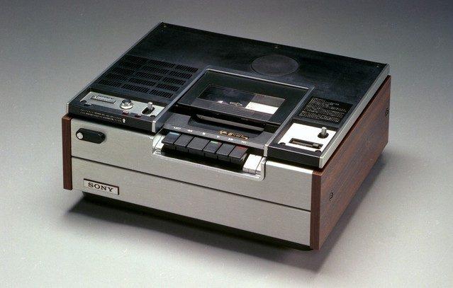 Sony SL-6300, første Betamax videooptager fra 1975. Foto: Sony