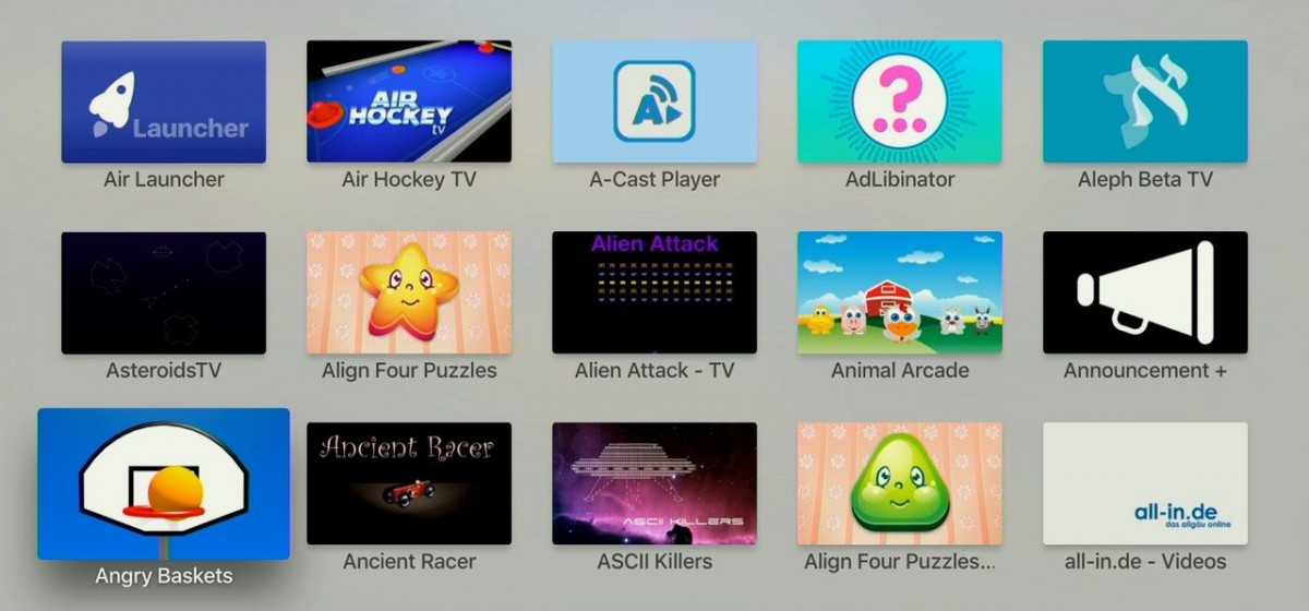 A - Apps i Apple TV. Foto: recordere.dk