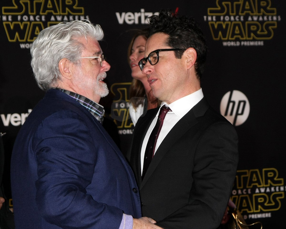 George Lucas og JJ Abrams ved verdenspremieren på Star Wars: The Force Awakens. Foto: Shutterstock.com