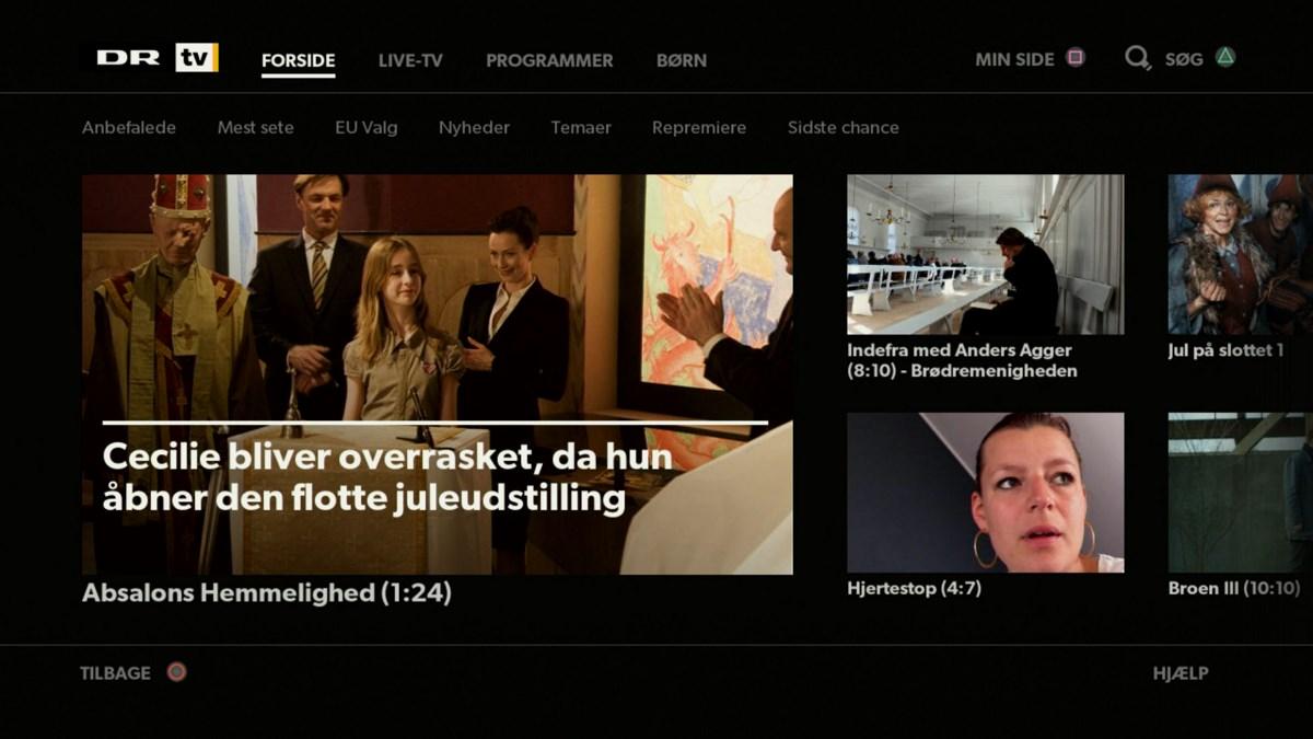 DR TV arkiv på PlayStation 4. Foto: recordere.dk