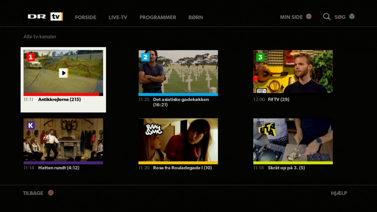 DR live TV på PlayStation 4. Foto: recordere.dk