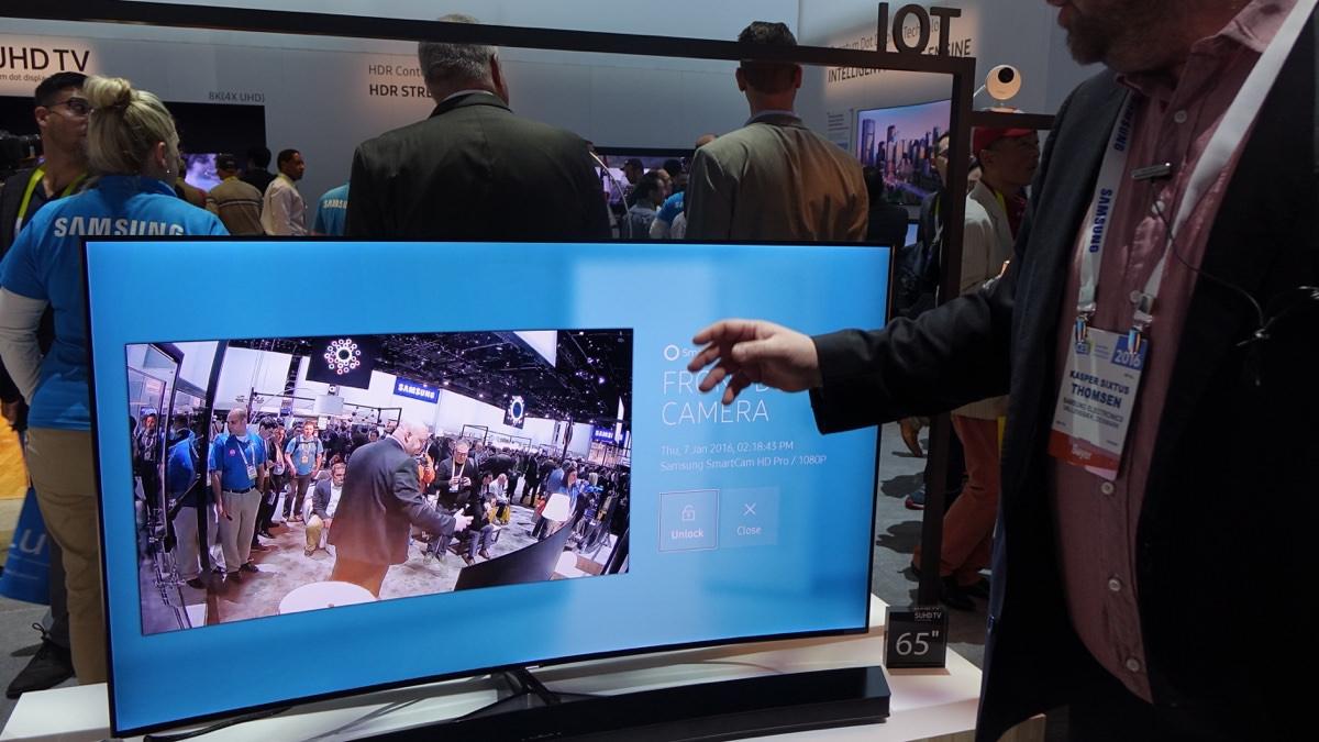 Samsung IoT demo på CES 2016.