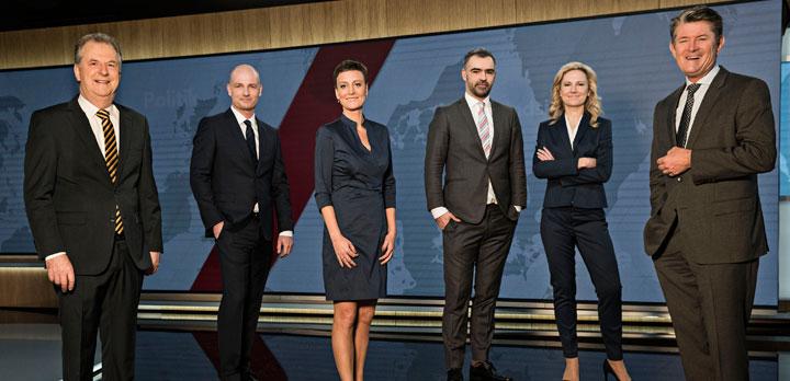 Værterne på TV 2 NEWS. Foto: TV 2