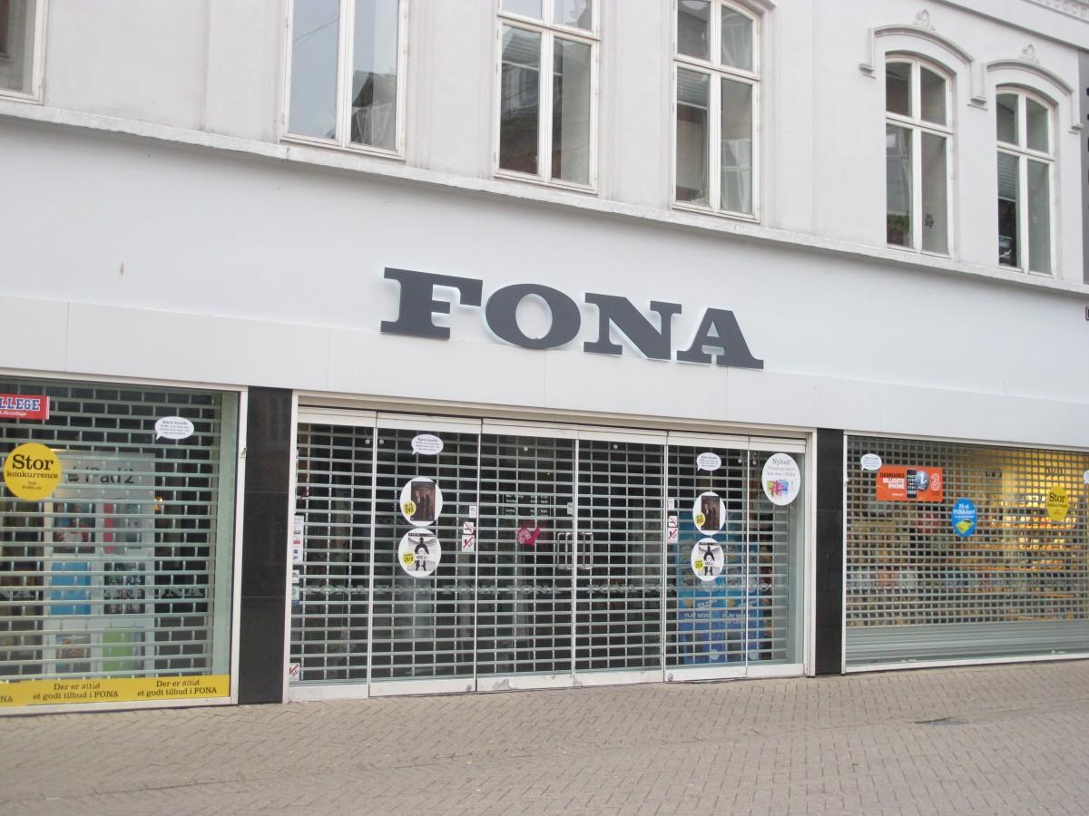 Denne Fona i Odense C lukker. Foto: recordere.dk