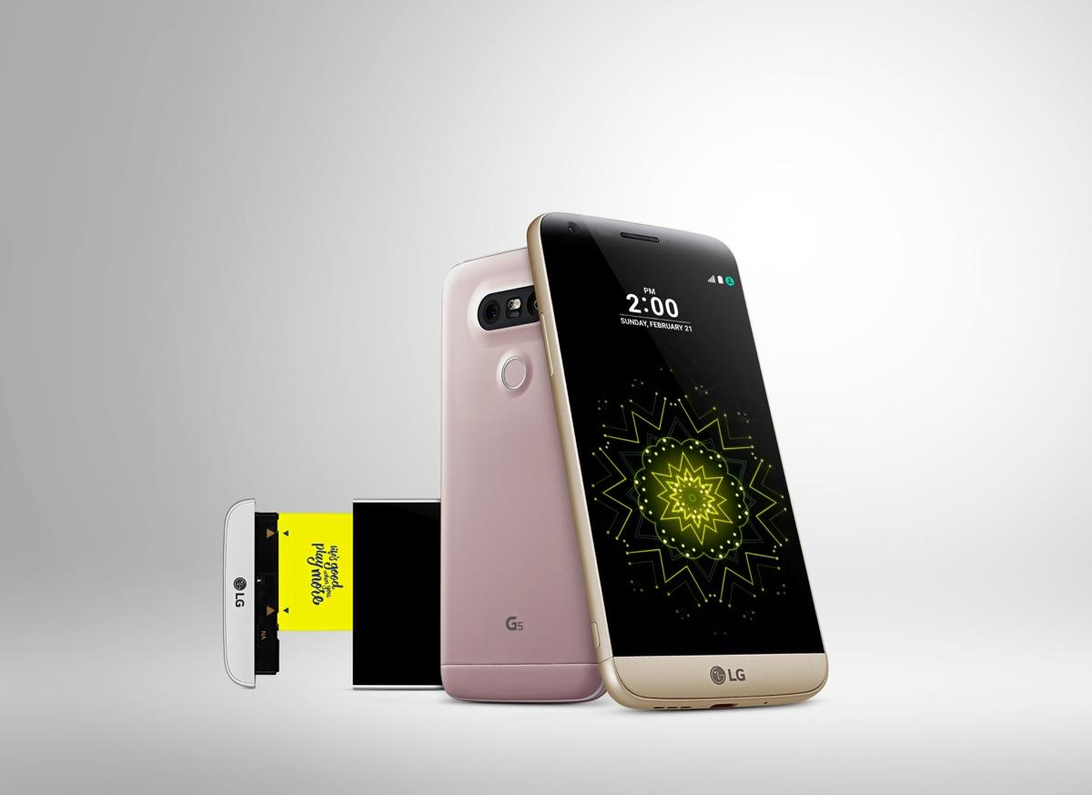 LG G5 med sit udskiftelige batteri