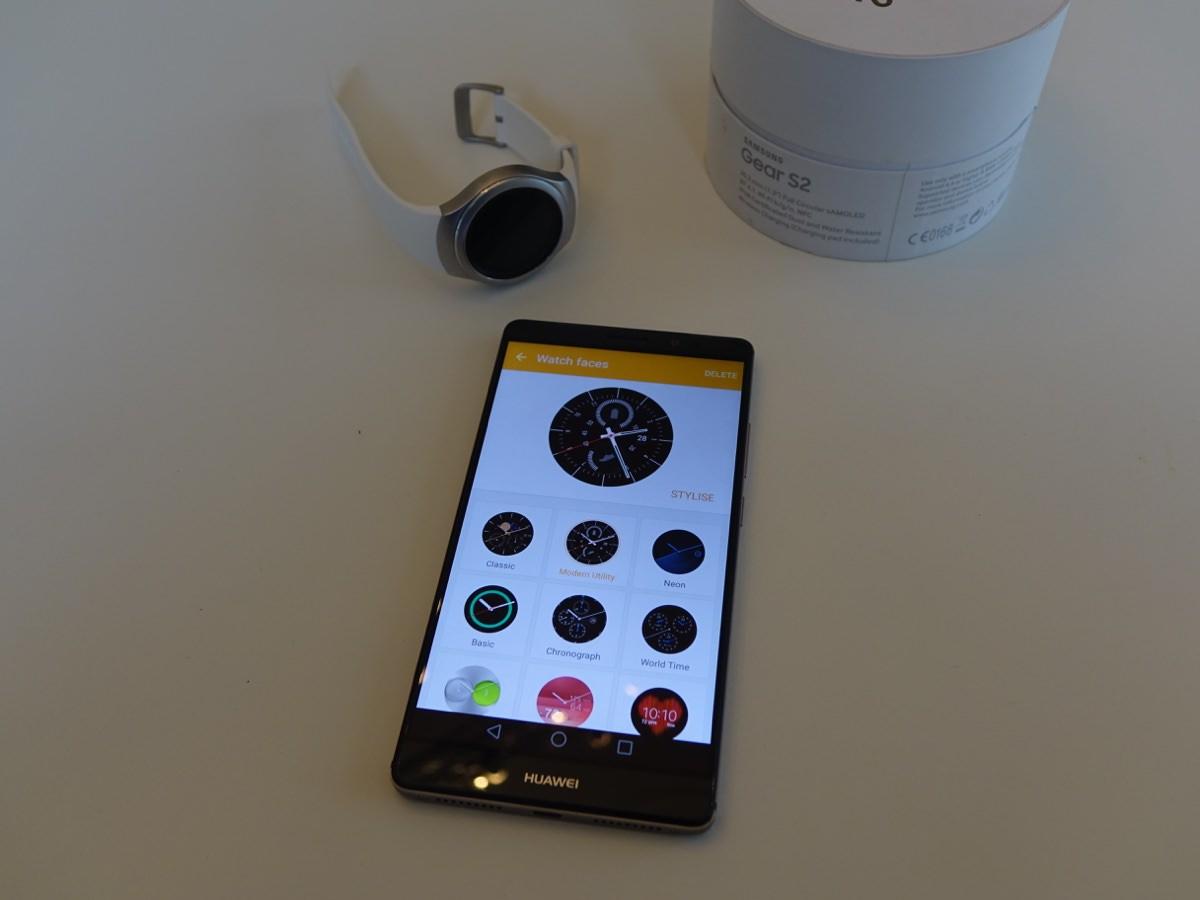 Samsungs butik bugner af urskiver (foto: recordere.dk)