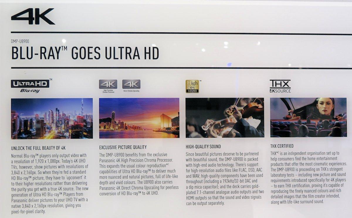 Panasonic 4K UHD Blu-ray UB900
