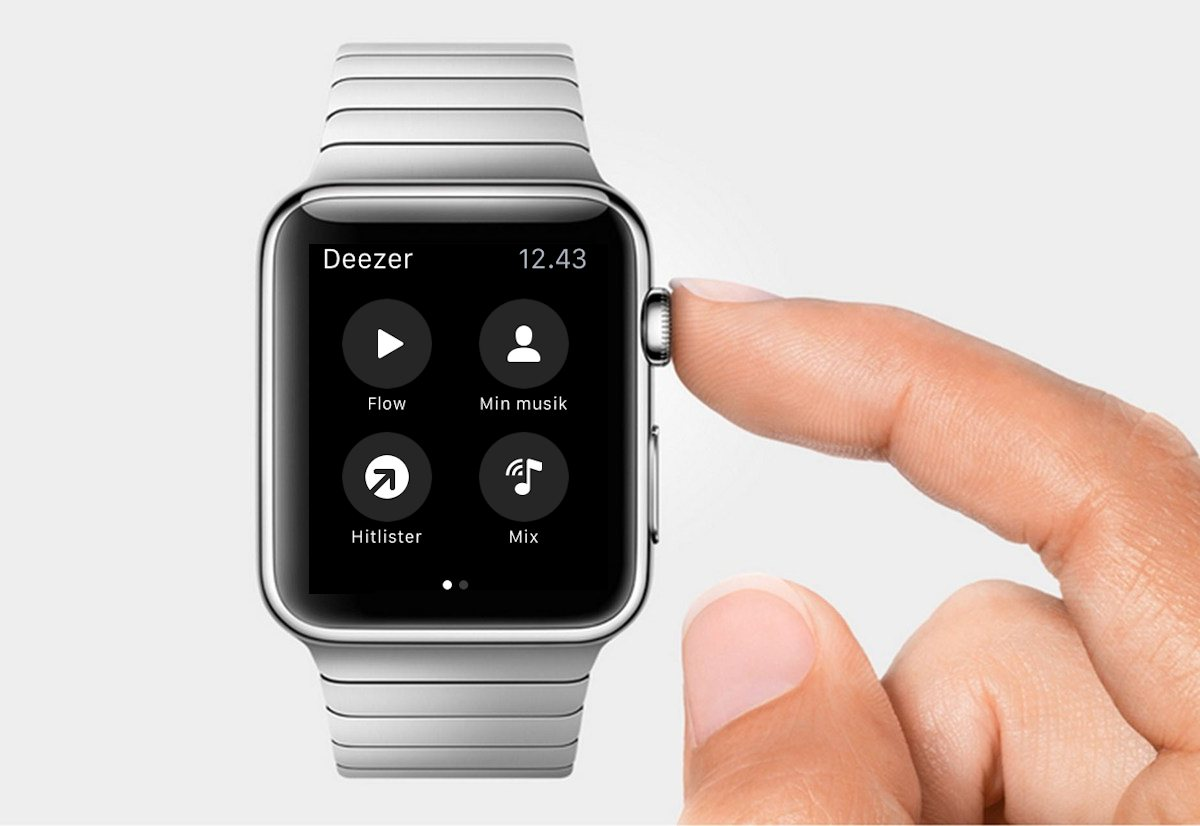 Deezer klar på Apple Watch. Foto: recordere.dk