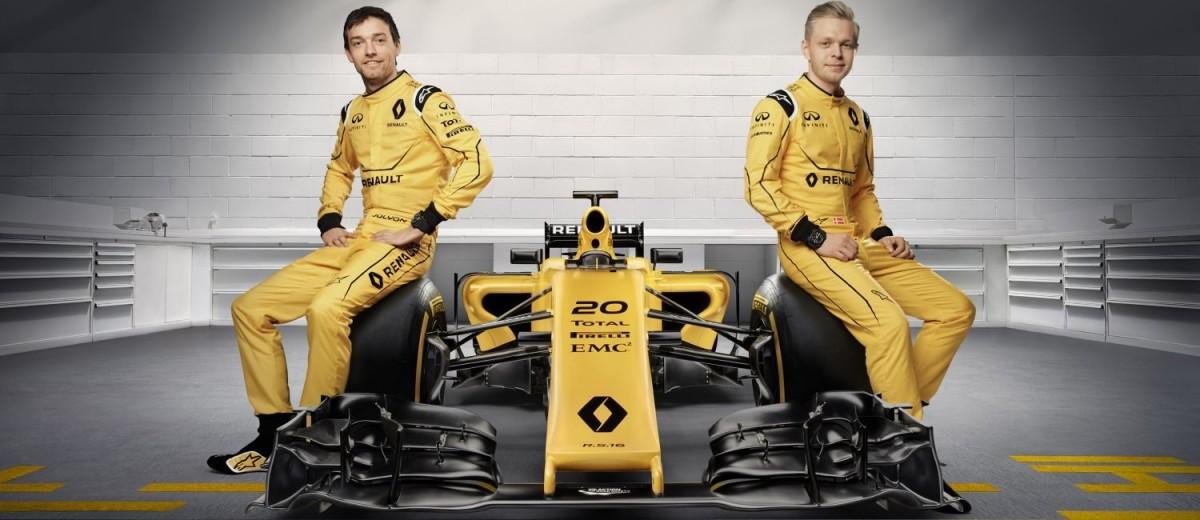 Renault F1 Team 2016 med Kevin Magnussen. Foto: Renault