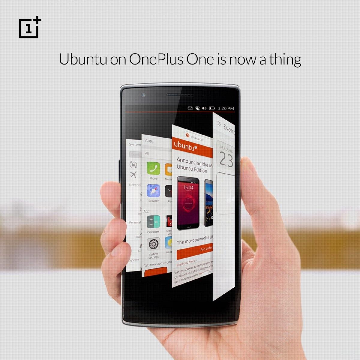 Snart kan du køre Ubuntu op din OnePlus One.