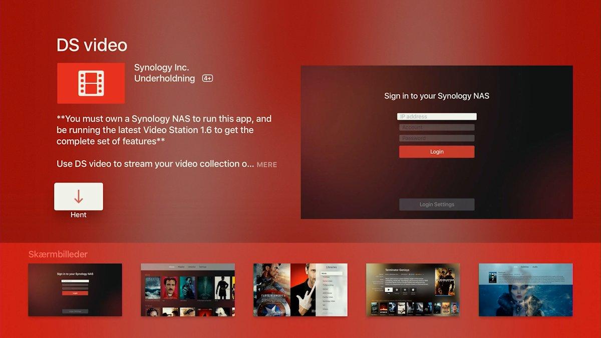 Synology DS Video på Apple TV