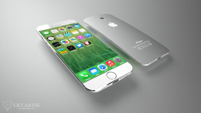 Denne iPhone-mocup fra Ciccarese design kan være tættere på virkeligheden end man lige tror (Foto: Ciccarese)