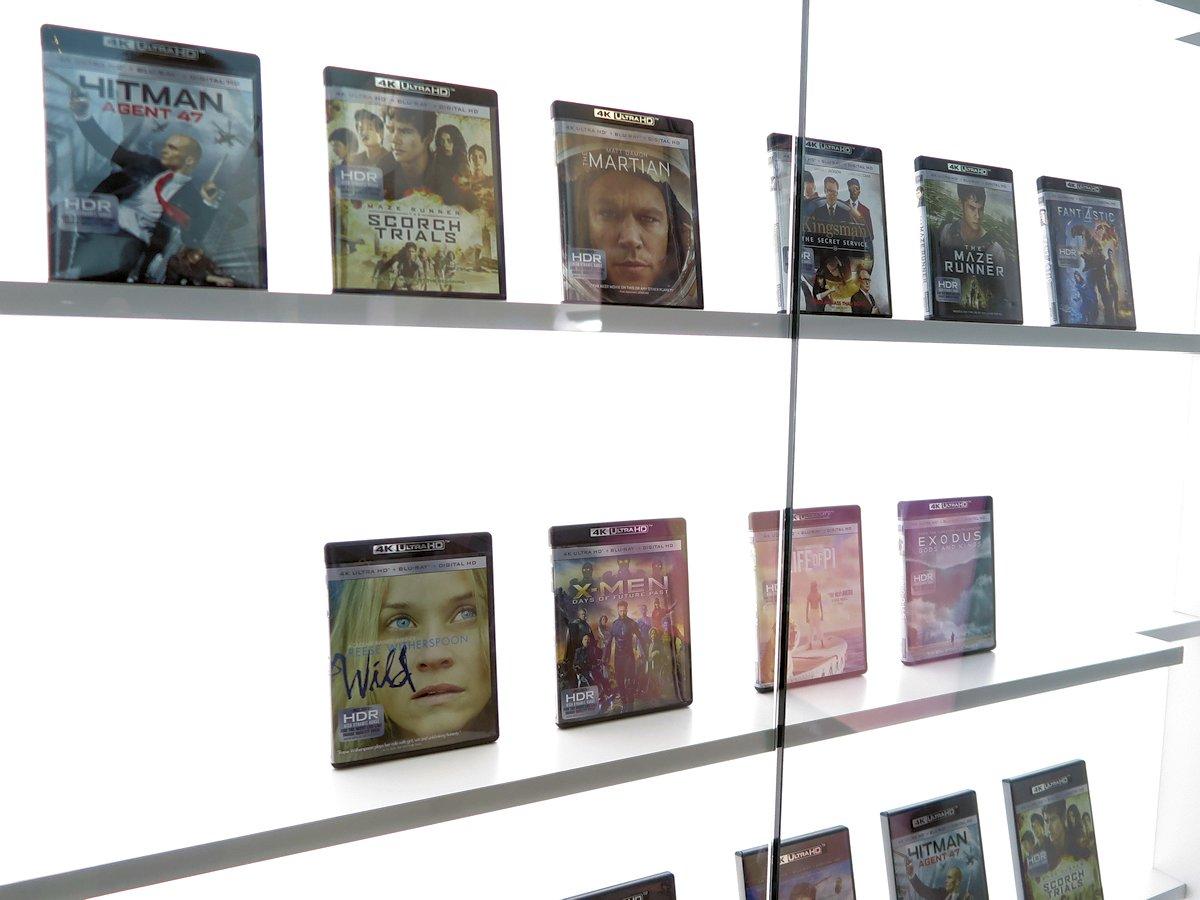 UHD Blu-ray film udstillet på Samsungs stand på CES 2016. Foto: recordere.dk