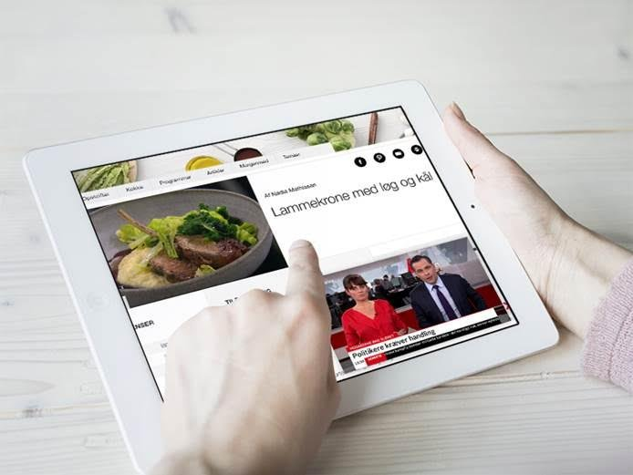 PIP - Picture In picture - på iPad. Foto: TV 2 Play
